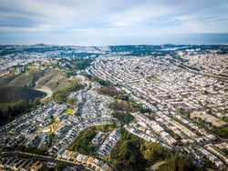 Birds eye view photo of Daly City in California