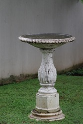 Birds favorite place for drinking and bathing. Retro Garden decoration item.