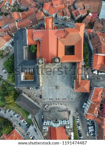 Birdseye view of Sé Catedral de Viseu - Viseu, Portugal 2018