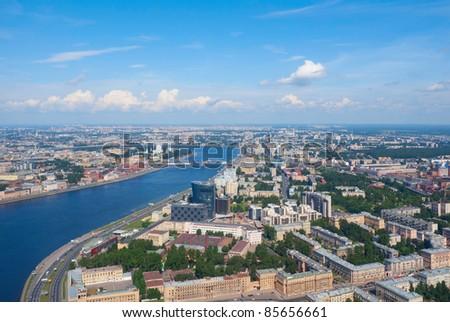 Birdseye view of Saint Petersburg, Russia