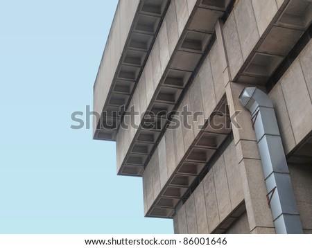 Birmingham Central Library, iconic brutalist concrete building, UK