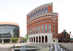 Birmingham City Centre and the historic architecture and landmarks England UK