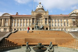 Birmingham Council House at Victoria Square. West Midlands, England.