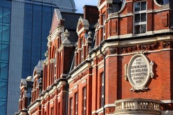 Birmingham in West Midlands, England. Birmingham Midland Eye Hospital - old ophthalmology healthcare center.