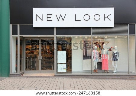 BIRMINGHAM, UK - APRIL 19, 2013: New Look fashion store in Birmingham, UK. New Look is a British high street fashion retailer with 1,160 stores worldwide (2014).