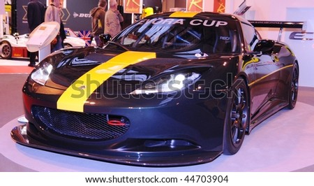 BIRMINGHAM, UK - JAN 16: Lotus atAutoSport International Show January 16, 2010 in Birmingham, UK