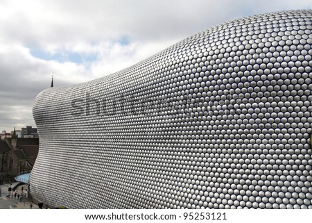 BIRMINGHAM, UK - MARCH 10: Bullring building on March 10, 2010 in Birmingham, UK. The building was opened in 2003 and is among most recognized contemporary buildings in the UK.