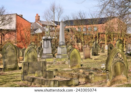 BIRMINGHAM, UK - MARCH 11, 2010: Famous Warstone Lane Cemetery on March 11, 2010 in Birmingham, UK. The cemetery dates back to 1847.