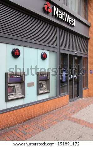 BIRMINGHAM, UK - MARCH 10: NatWest bank branch on March 10, 2010 in Birmingham, UK. NatWest (National Westminster Bank) is one of Big Four banks in England. Currently it has 7.5 m personal customers.