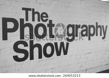 Birmingham, UK - March 24: The Photography Show logo seen at NEC in Birmingham, UK on March 24, 2015.
