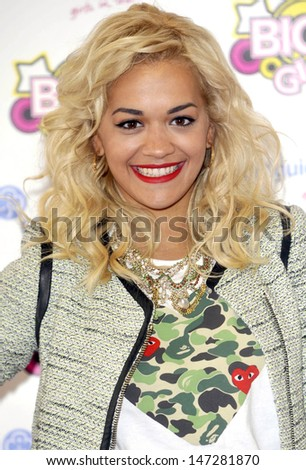 Birmingham.UK.  Rita Ora at the Girlguiding UK Big Gig at LG Arena, Birmingham. 31st March   2012.
