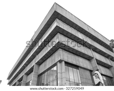 BIRMINGHAM, UK - SEPTEMBER 24, 2015: Birmingham Central Library iconic masterpiece of New Brutalism designed by John Madin in 1974 is now threated of demolition