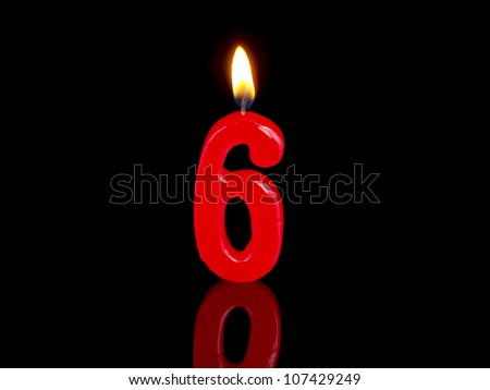 Birthday-anniversary candles showing Nr. 6