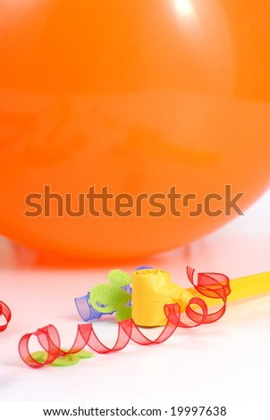 birthday balloon isolated on white