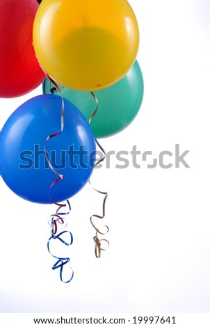 birthday balloons isolated on white