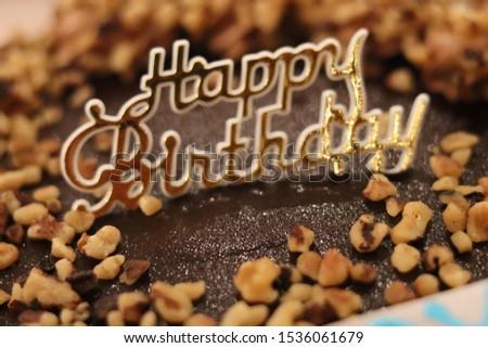 birthday cake.  Almond cake  #1536061679