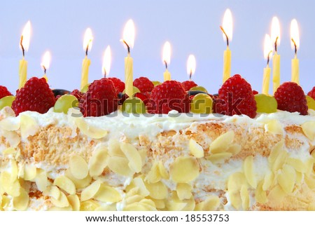 birthday cake with candles pics. Birthday cake with candles