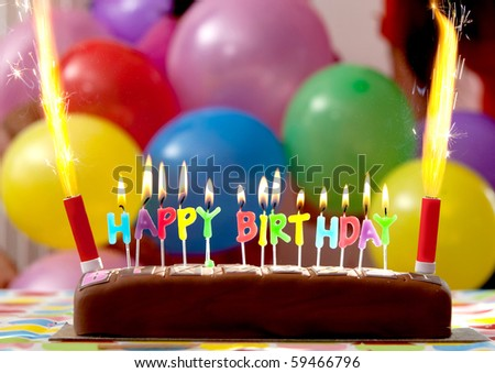 http://image.shutterstock.com/display_pic_with_logo/1294/1294,1282409730,1/stock-photo-birthday-cake-with-candles-lit-up-and-balloons-on-the-background-59466796.jpg
