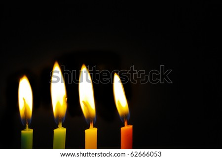 Birthday candles for text and background