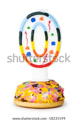 Birthday candles isolated on the white background