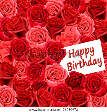 Happy Birthday Roses Card Birthday Card With Roses And