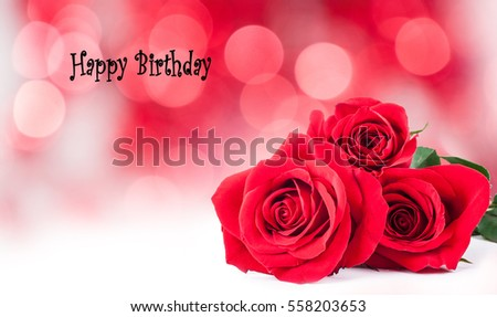 Free Photos Birthday Card With Red Flowerhappy Birthdayrussian