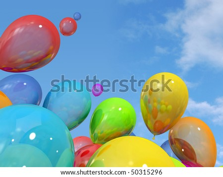 clipart birthday balloons. stock photo : Birthday clipart