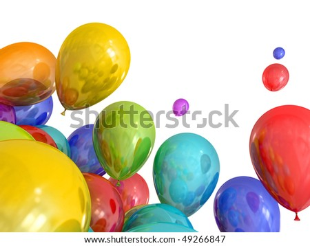 clip art balloons. stock photo : Birthday clipart