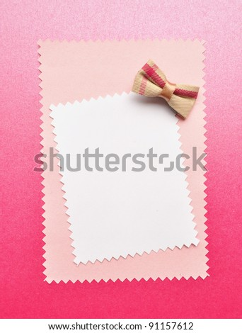 Birthday gift card with bow made from paper