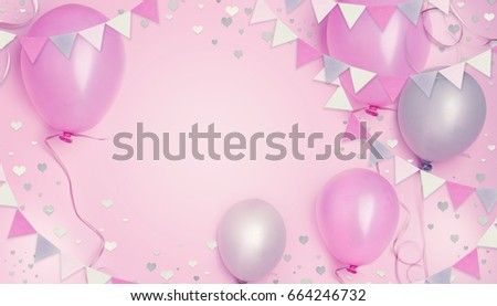 birthday little girl princess party concept. - Shutterstock ID 664246732