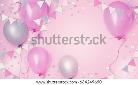 birthday little girl princess party concept. - Shutterstock ID 664249690