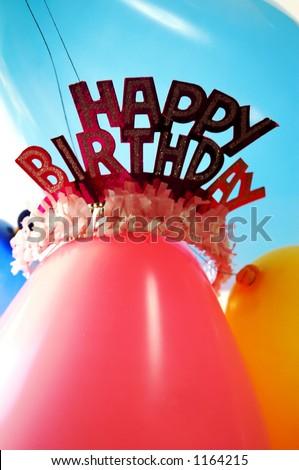 stock photo : Birthday party background