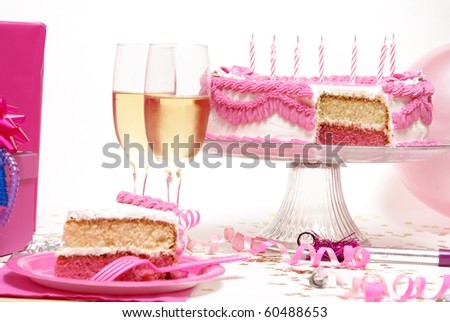 birthday party scene. stock photo : Birthday Party Scene