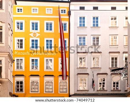 Birthplace of Mozart in Salzburg in Austria
