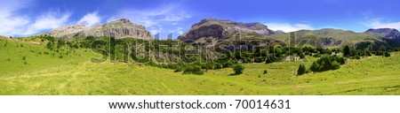 Bisaurin Pyrenees peak panoramic mountain landscape scenics Huesca Spain [Photo Illustration] #70014631