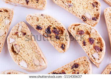 biscotti with almond and grape
