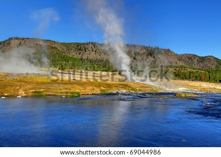 Biscuit Basin Geyser Basin in Yellowstone National Park