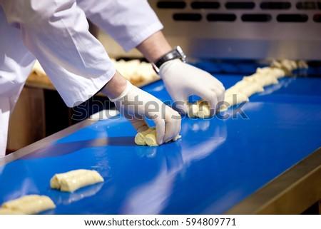 Biscuit depositing machine, equipment in bakery industry