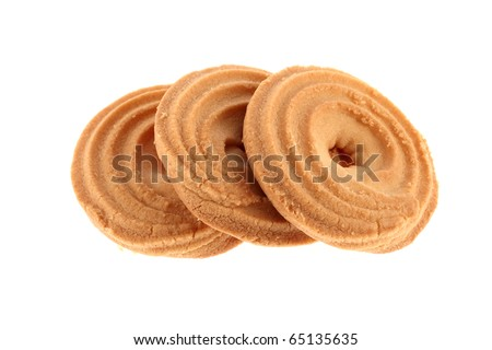 Biscuits isolated on a white background