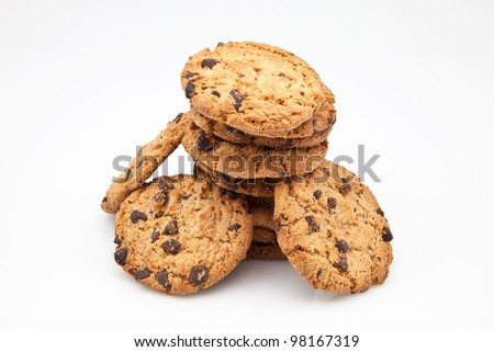 biscuits with chunks of chocolate
