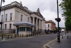 Bishop Street Courthouse in Derry or Londonderry, Northern Ireland (UK)