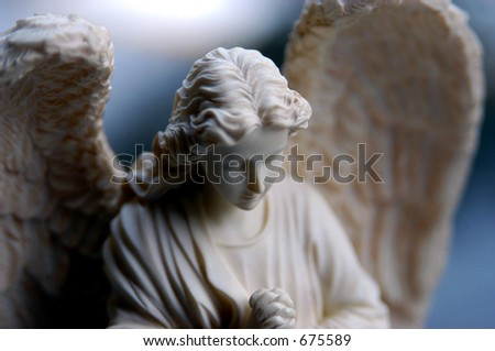Bisque statue of angel