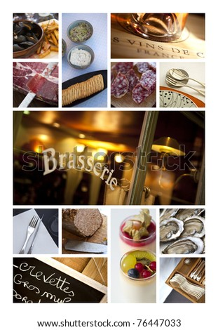 Bistros,pubs and restaurant collage