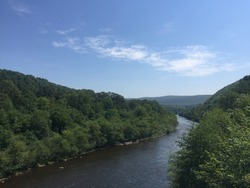 Bit of the Delaware River viewed from Northampton County, not far from Jim Thorpe