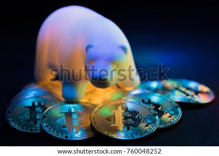 Bitcoin. Bear Market Symbol. GPU Mining. - Shutterstock ID 760048252