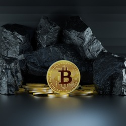 Bitcoin BTC Cryptocurrency Coins. Stock Market Concept. BTC to USD Cryptocurrency Bitcoin BTC