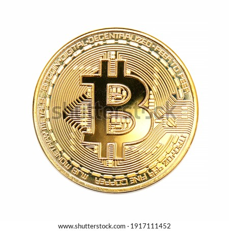 bitcoin coin crypto money isolated on white background