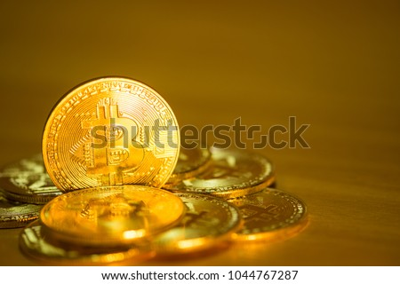Bitcoin cryptocurrency digital cash Blockchain technology. Crypto business and investment concept.