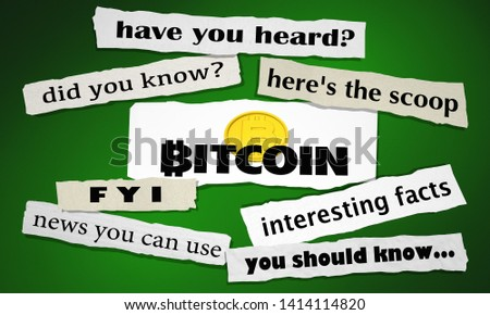 Bitcoin Cryptocurrency Digital Money Newspaper Headlines Big News 3d Illustration