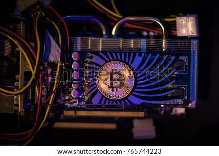 Bitcoin GPU Mining - Shutterstock ID 765744223